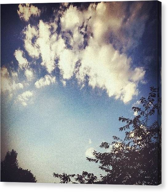 Kentucky Canvas Print - Fluffy Clouds Hang Overhead Like A by Amber Flowers