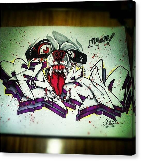 Panda Canvas Print - *flush  #sketch #graffiti #graff by Stalker Oner