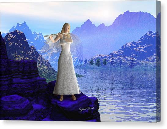 Flute Angel 2 Canvas Print