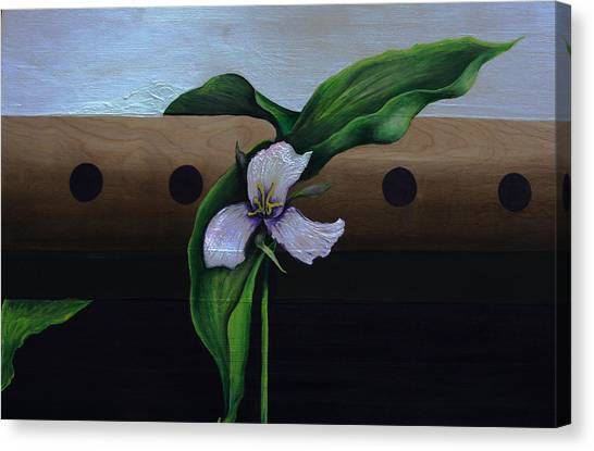 Fluted Floer Canvas Print