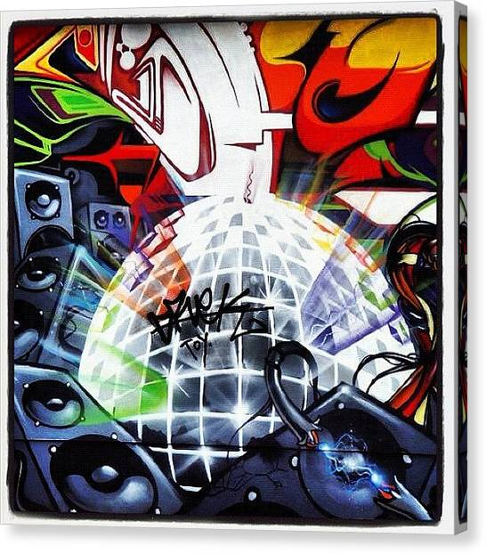 Speakers Canvas Print - #flx #epok #sepr#soker3dom#graffiti by Nigel Brown