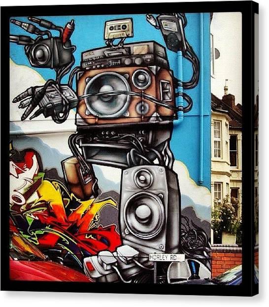 Speakers Canvas Print - #flx#soker#3dom#epok #sepr #bristol by Nigel Brown