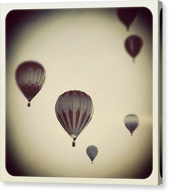 Hot Air Balloons Canvas Print - Fly Away by Laura Douglas