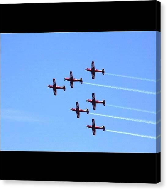 Jets Canvas Print - Fly By #flyingteam #flyby #jets by Avril O