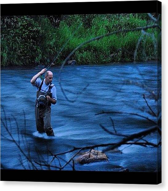 Wolves Canvas Print - Fly Fishing In The Colorado River by Wolf Stumpf