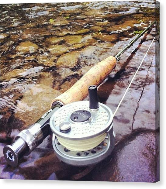 Fly Fishing Canvas Print - Fly Rod And Reel by Dave M