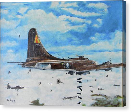 Flying Fortresses Canvas Print