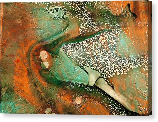 Flying Insect Canvas Print by S Josephine  Weaver