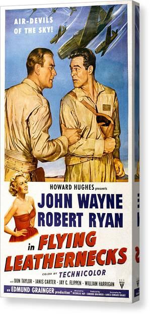 Films By Nicholas Ray Canvas Print - Flying Leathernecks, John Wayne, Robert by Everett