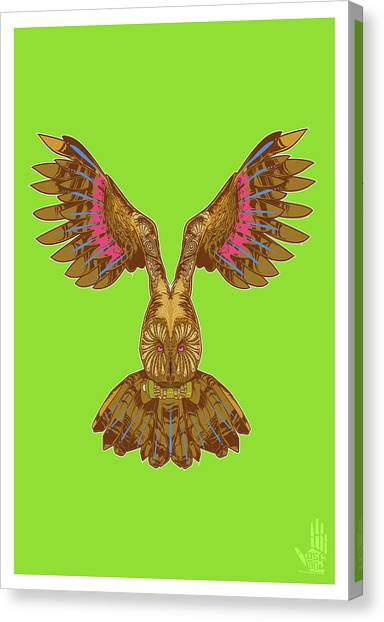 Flying Owl Canvas Print
