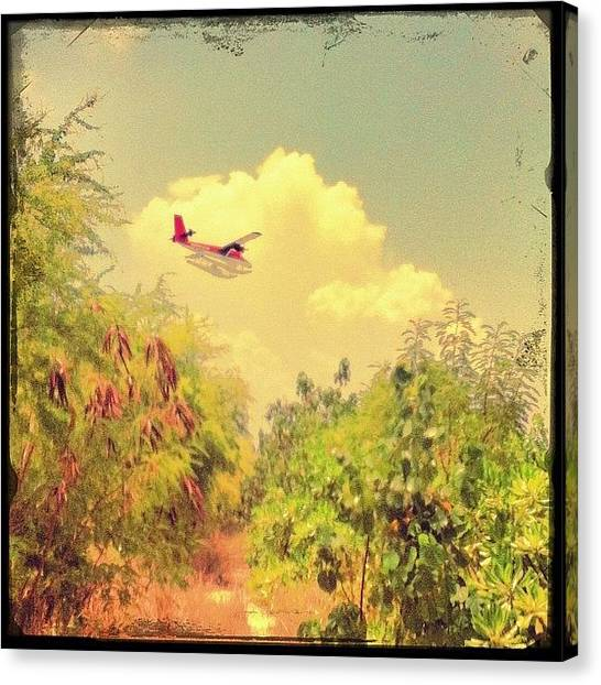 Seaplanes Canvas Print - Flying So Low #instagram #iphoneography by Abid Saeed