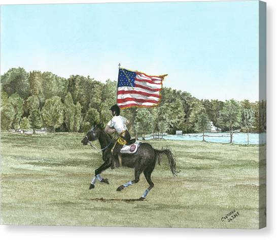 Flying The Colors At A Gallup Canvas Print