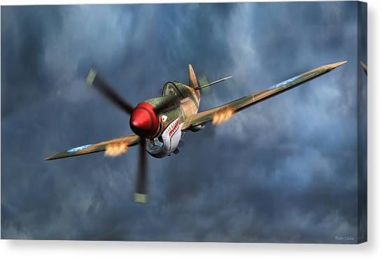 Flying Tiger P-40 Warhawk Canvas Print