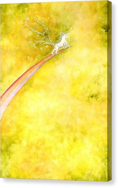Flying Unicorn Canvas Print by Asida Cheng