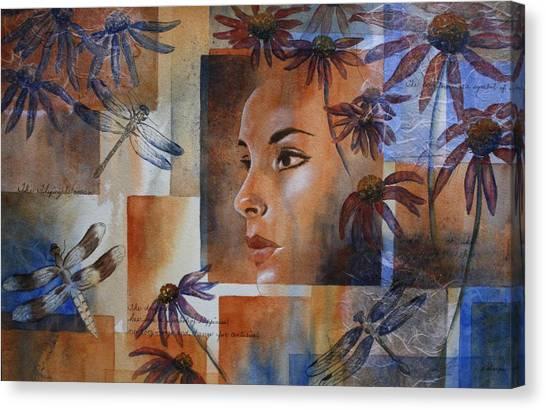 Flying Woman Canvas Print