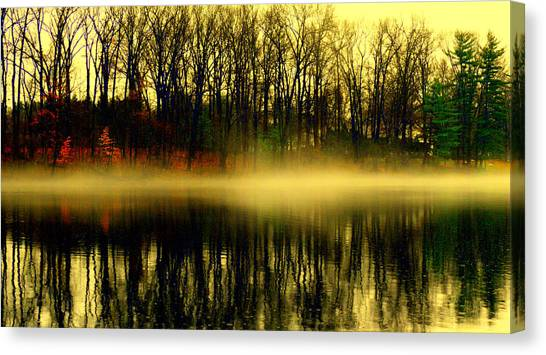 Fog At  Farrington Lake Canvas Print