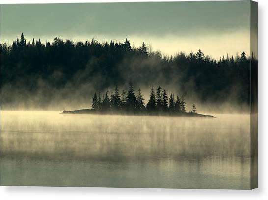 Fog Island Canvas Print