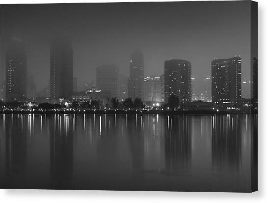 Canvas Print featuring the photograph Fog On The Bay by Margaret Pitcher