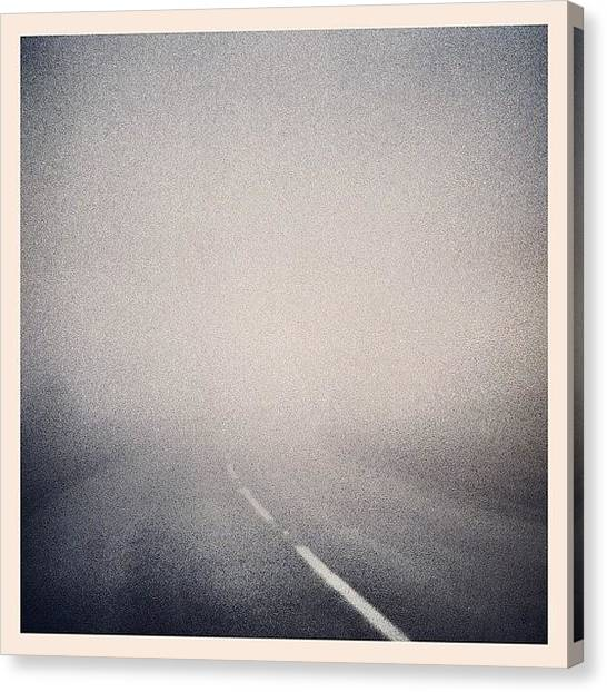Marshes Canvas Print - Fog by Tom Crask