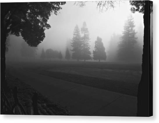 Foggy Fairway Canvas Print