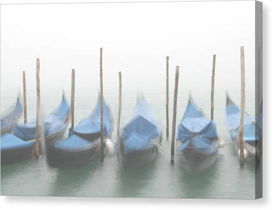 Foggy Morning Grand Canal Canvas Print