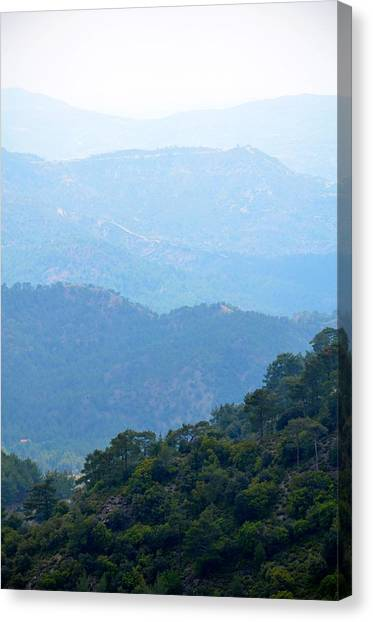 Foggy Mountain Layers Canvas Print