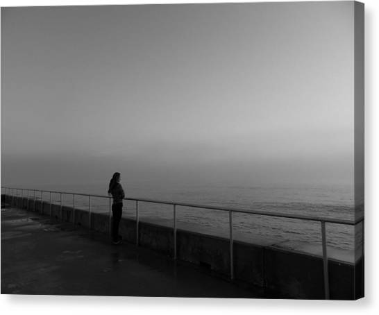 Foggy Thoughts Canvas Print by David Mcchesney