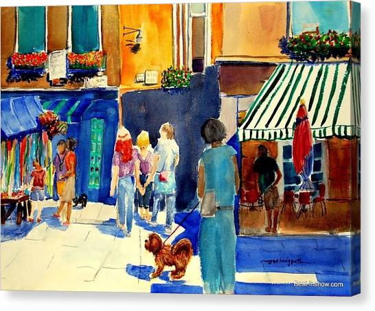 Follow The Crowd Canvas Print by Joe Hedgpeth