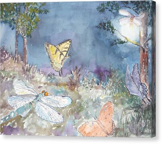 Follow The Firefly Canvas Print by Dorothy Herron
