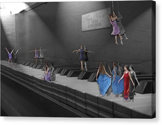 Nuns Canvas Print - Following My Lead by Betsy Knapp
