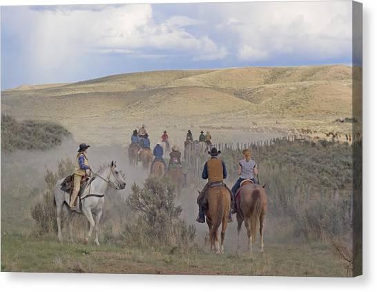 Following The Herd Canvas Print by Judy Deist