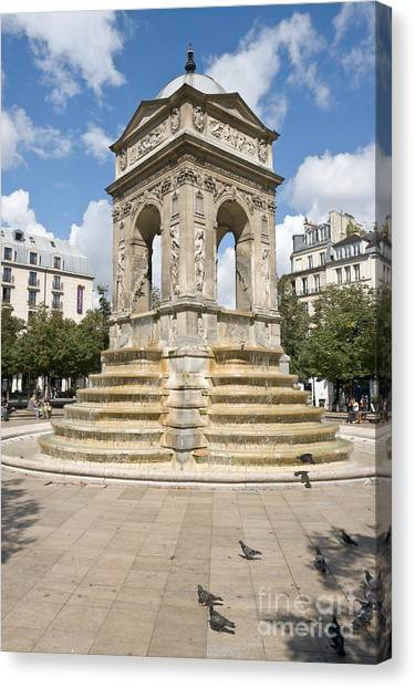 Fontaine Des Innocents I Canvas Print by Fabrizio Ruggeri