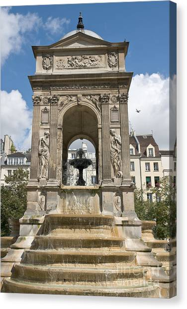 Fontaine Des Innocents II Canvas Print by Fabrizio Ruggeri