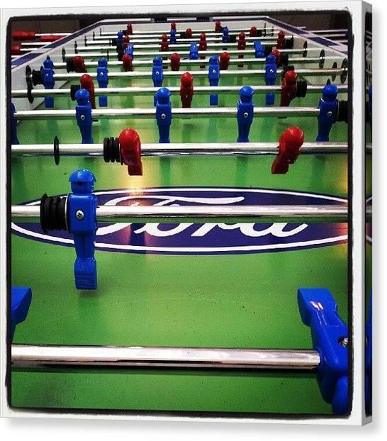 Harvard University Canvas Print - #foosball #game #soccer #blue #red #fun by Josue C