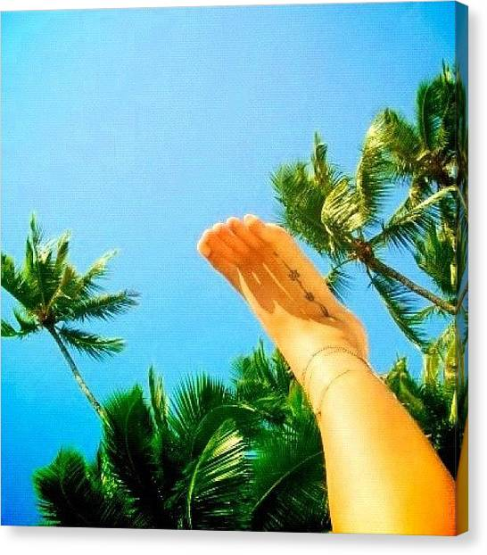 Feet Canvas Print - #foot #palm #igers #igersfollow by Avatar Pics