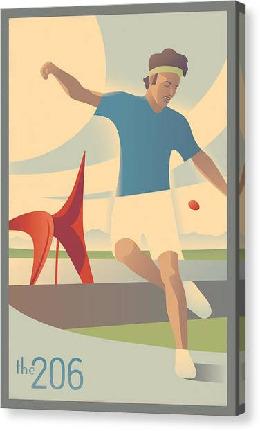 Seattle Canvas Print - Footbag In Seattle by Mitch Frey