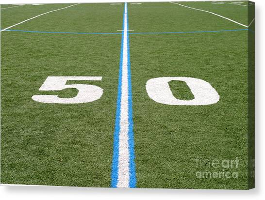 Football Field Fifty Canvas Print