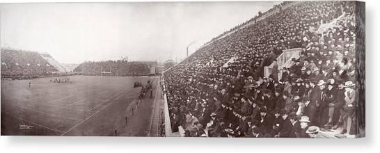 Boston College Canvas Print - Football, Panorama Of The Harvard - by Everett
