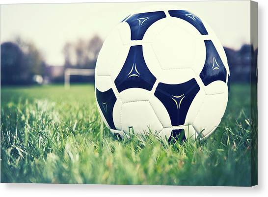Soccer Canvas Print - Football by Sally Anscombe
