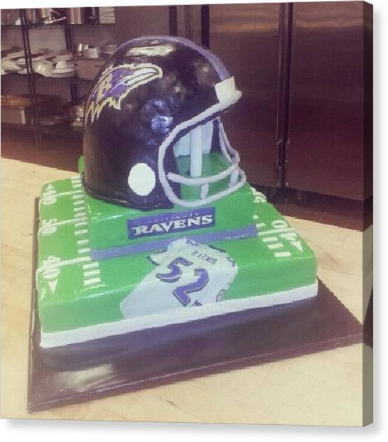 Touchdown Canvas Print - #footballcake #cake #ravens #raylewis by James Gentry