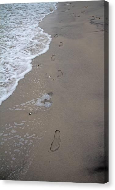 Toes Canvas Print - Footprints by Betsy Knapp
