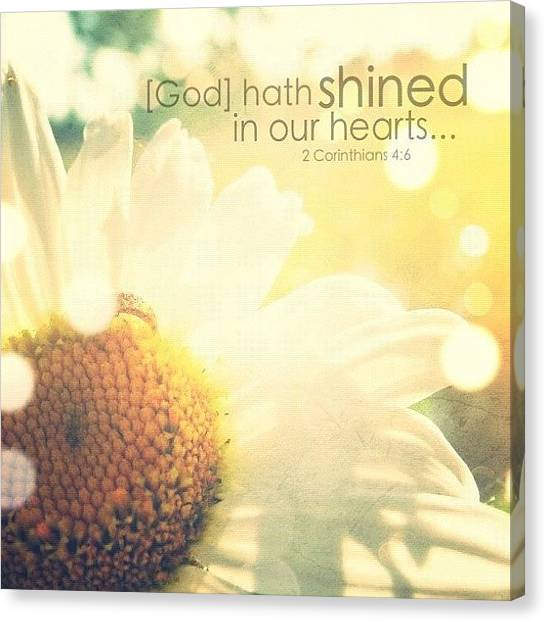 Inspirational Canvas Print - for God, Who Commanded The Light To by Traci Beeson