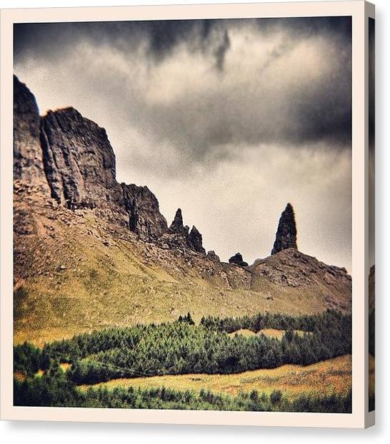 Geology Canvas Print - For @shollie ... The Old Man Of Storr by Robert Campbell