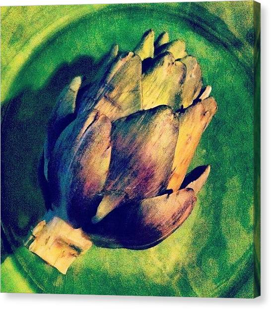 Artichoke Canvas Print - For Starters by Chloe Stickland