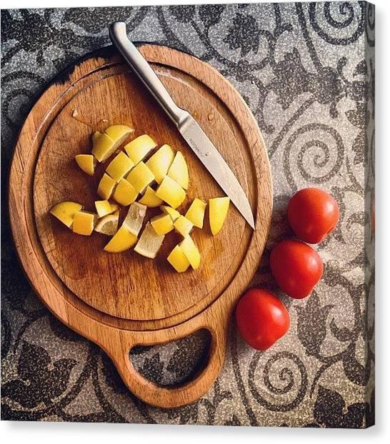Lemons Canvas Print - For Sunday Dinner #food #foodporn #yum by Denis Makhanko