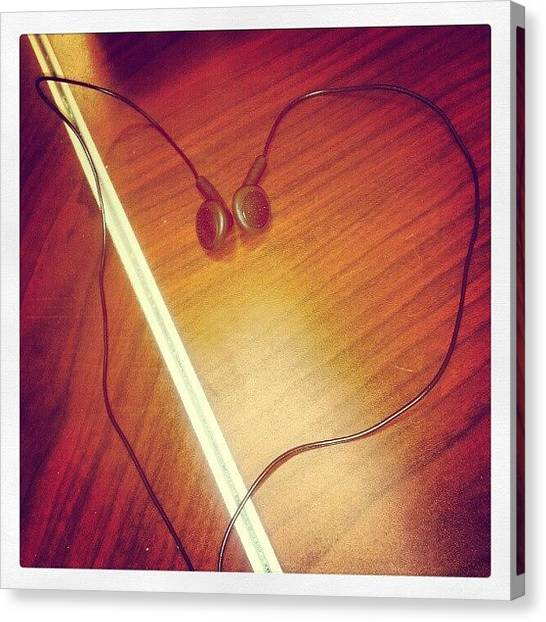 Headphones Canvas Print - For The Love Of Music by Stuart Lieberman