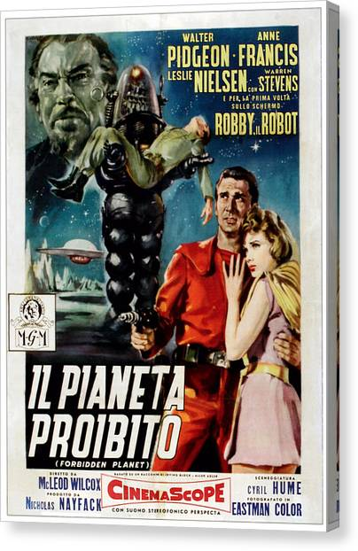Forbidden Planet Canvas Print - Forbidden Planet Aka Il Pianeta by Everett