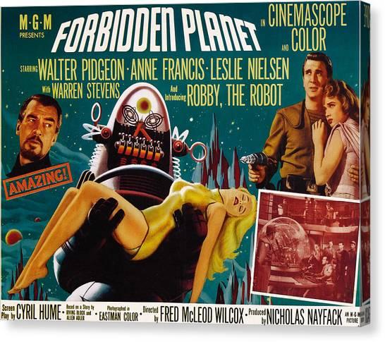 Forbidden Planet Canvas Print - Forbidden Planet, Walter Pidgeon, Anne by Everett