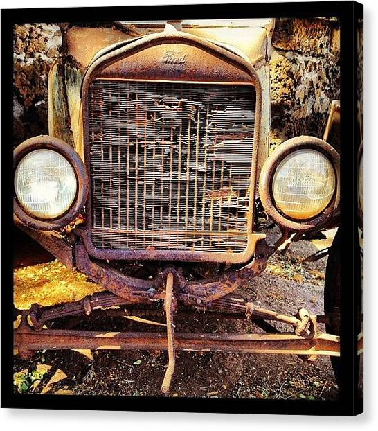Transportation Canvas Print - Ford Of Old by Darice Machel McGuire