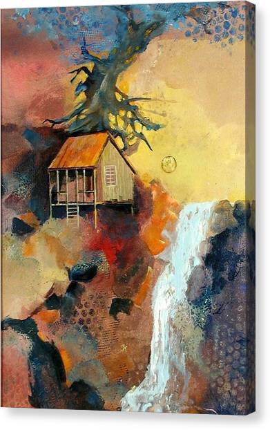 Forest Bungalow Canvas Print